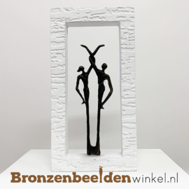 "Wanddecoratie brons ""Perfect match"" BBW005br32"