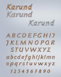 Losse letters Karund