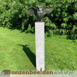 Bronzen uil met gespreide vleugels BBWR88879
