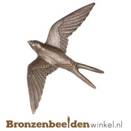 Dierenbeeldje zwaluw van brons BBWP4424
