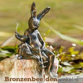 Hazen beeldje in brons BBWR88885
