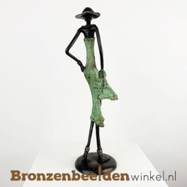 """Afrikaans beeld """"Beminnelijk"""" 35 cm BBW009br28"""