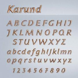 Bronzen letters Karund