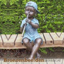 """Spuitfiguur """"Jongetje met fluit"""" BBW1391br"""