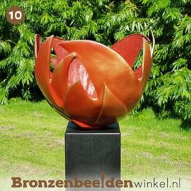 "NR 10 | Cadeau vrouw 80 jaar ""Bloem des Levens"" - Rood"
