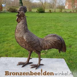 Bronzen beeld haan BBW0484br