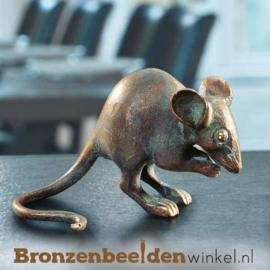 Bronzen muis beeldje BBW37071