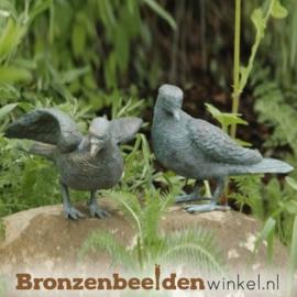 Duiven beelden in brons BBWR88271/72