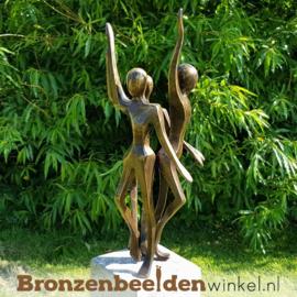 """Bronzen tuinbeeld """"De Drie Eenheid"""" BBW2389br"""
