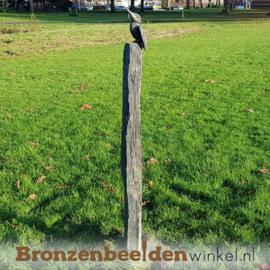 Tuinbeeld ijsvogel op sokkel BBW88321ls