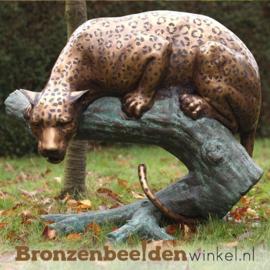 Bronzen jacht luipaard BBW670