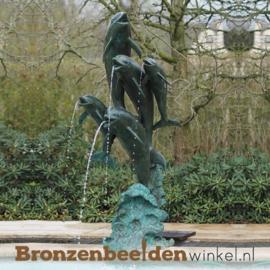 Vijf bronzen dolfijnen als fontein BBW770BR