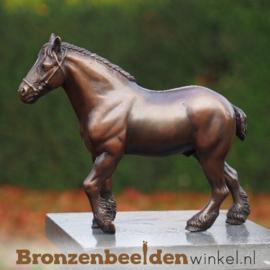Bronzen trekpaard beeldje BBW1351