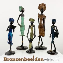 """Afrikaans kunst """"Set 5 st. (2xM-3xS)""""  BBW009br62"""