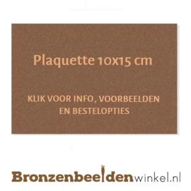 Bronzen plaquette 10x15 cm