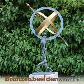 Bronzen zonnewijzer / sculptuur BBW1165br