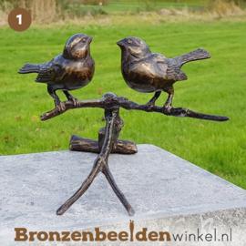 NR 1 | 90 jaar verjaardagscadeau ''Twee vogeltjes op tak'' BBWFH2MG
