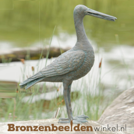 Spuitfiguur grutto vogel in brons BBWR88084