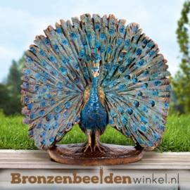 Bronzen beeld pauw BBW88640
