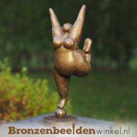 Tuinbeeld Dikke Dame brons BBW2344br