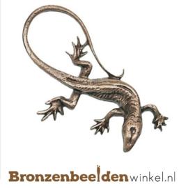 Dierenbeeldje hagedis van brons BBWP4340