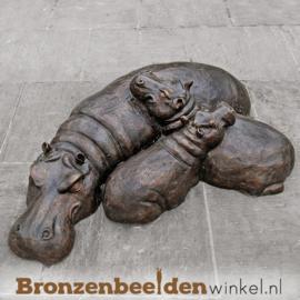 Bronzen nijlpaard beelden BBW47207