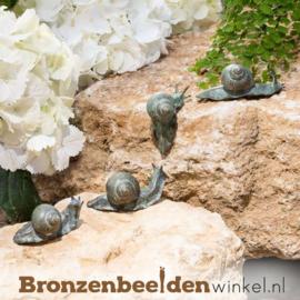 Vier bronzen slakkenbeeldjes BBW37995