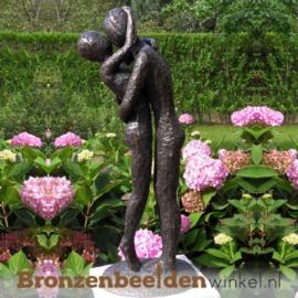 Bronzen liefdespaar tuinbeeld BBW1728br