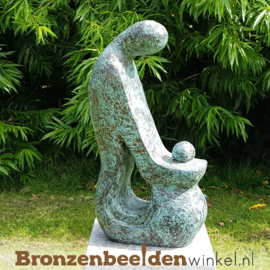 "BLACK FRIDAY | Bronzen tuinbeeld ""Moeder en Kind"" BBW52227br"