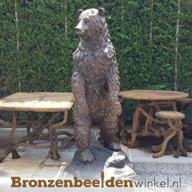 Beeld Grizzly beer in brons BBW59266