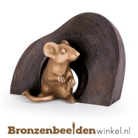 Beeld muis als wanddecoratie BBW37226