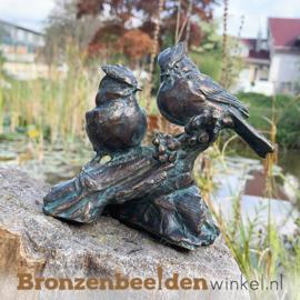 Bronzen vogel paartje op tak BBWR89056