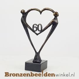 """TOP cadeau 60 jaar getrouwd """"Het Hart"""" met 60 BBW003br67"""