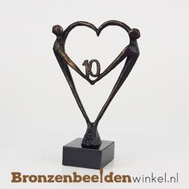"""TOP cadeau 10 jaar getrouwd """"Het Hart"""" met 10 BBW003br67j"""