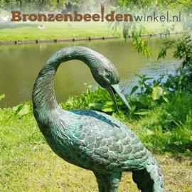 Bronzen kraanvogel beeld BBW1179br-v