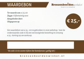 Cadeaubon t.w.v. €25,-