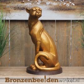 Zittende jaguar brons BBW2253br