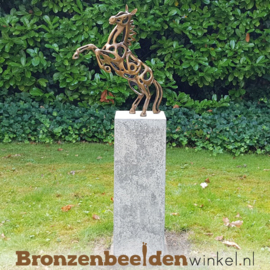 Abstract tuinbeeld steigerend paard BBW2567br