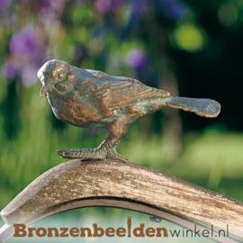 Bronzen heggenmus beeldje BBWR88234