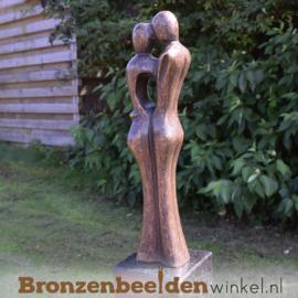 Bronzen liefdespaar tuinbeeld - Kleine Versie BBW0718br