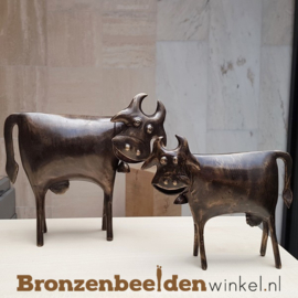 Abstract dierenbeeld koeien BBWFHKSET
