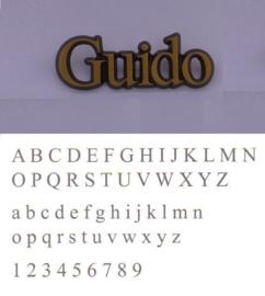 Bronskleurige letters Guido