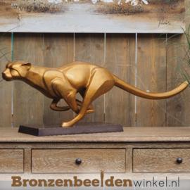 Sprintende jaguar brons BBW2254br