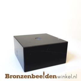 4x Marmeren sokkel 4x7,5x7,5 cm