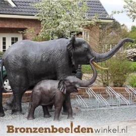 Bronzen beeld olifanten paar (fontein) BBW944