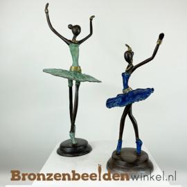 """Afrikaanse ballerina beelden set """"Groot en Klein""""  28 + 40 cm BBW009br94"""
