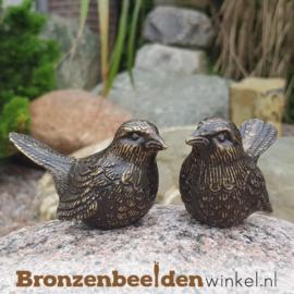 Twee musjes van brons BBWFHWK