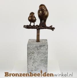 Vogel beeldje moeder en kind BBW006br03