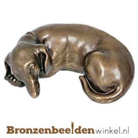 Hondenbeeldje tekkel brons BBWP4491