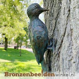 NR 10 | Bronzen bonte specht beeld BBWR88472